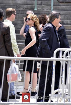 Eddie Falco - The funeral service for Emmy award-winning Sopranos actor James Gandolfini at the Cathedral of St. John The...