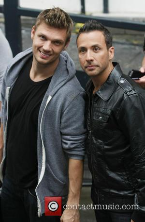 Nick Carter, Howie Dorough and The Back Street Boys - Celebrities at the ITV studios - London, United Kingdom -...