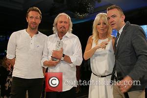Chris Martin and Barry Gibb