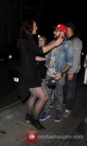 AJ McLean - Backstreet Boys leaving May Fair Hotel to go to G-A-Y nightclub for a performance - London, United...