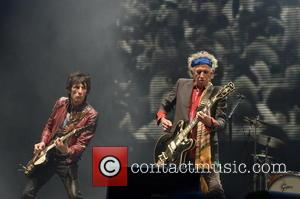 Keith Richards and Ronnie Wood - The 2013 Glastonbury Festival - Day 1 - Performances - The Rolling Stones -...
