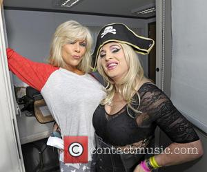 Sam Fox and Stephanie Starlet - Summer Rites - Pride in the Park 2013 - Backstage - London, United Kingdom...