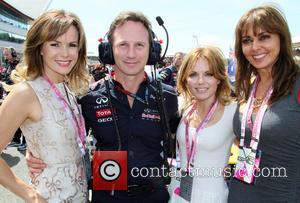 Amanda Holden, Christian Horner, Geri Haliwell and Carol Vorderman