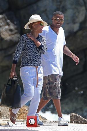 Nas and Nasir bin Olu Dara Jones - Rapper Nas enjoys a day with friends at the Hotel Du Cap-Eden...