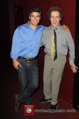 Esai Morales and Richard Simmons - Friend Movement Campaign benefit concert at the El Rey Theatre - Backstage - Los...