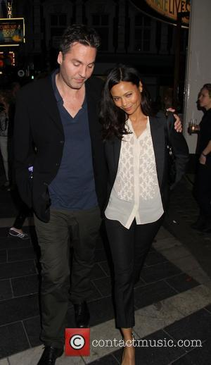 Thandie Newton and Guest - Celebrities enjoy a night out in Central London - London, United Kingdom - Wednesday 3rd...