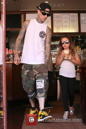 Travis Barker and Alabama Luella Barker - Travis Barker and Daughter Alabama Luella Barker seen getting a drink in Beverly...