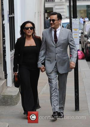 Jessie Wallace and Tim Arnold - Jessie Wallace and boyfriend Tim Arnold arrive together for Tim Arnold's new single launch...