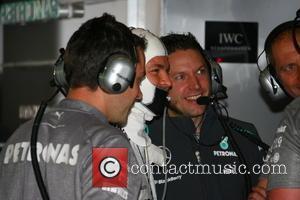 Nico Rosberg and Sebastian Vettel