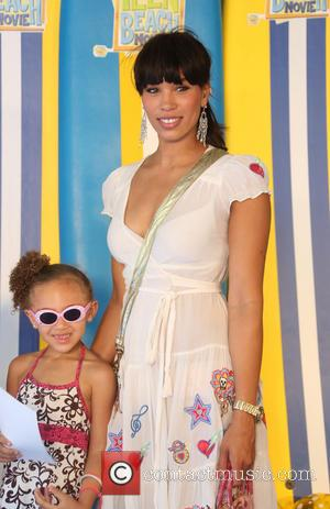 Javine Hylton and Angel - UK screening of Disney Channel's 'Teen Beach Movie' - Arrivals - London, United Kingdom -...