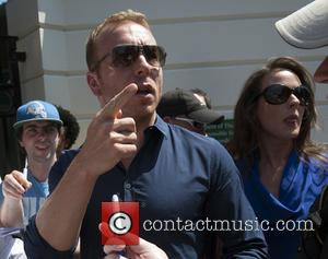 Sir Chris Hoy and Sarra Kemp - Wimbledon Tennis Championship 2013 - Mens Final Day - Celebrity Sightings - London,...