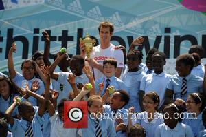 Andy Murray - Wimbledon Champion Andy Murray is pictured at an Adidas event where he met his fans and challenged...
