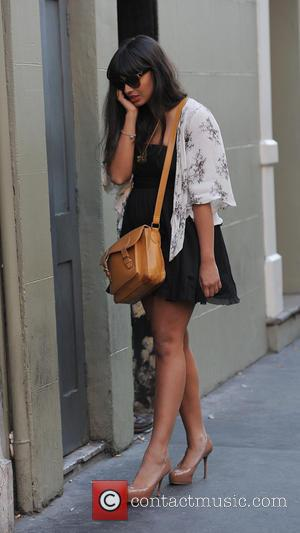 Jameela Jamil - Jameela Jamil talking on her phone in Soho - London, United Kingdom - Monday 8th July 2013