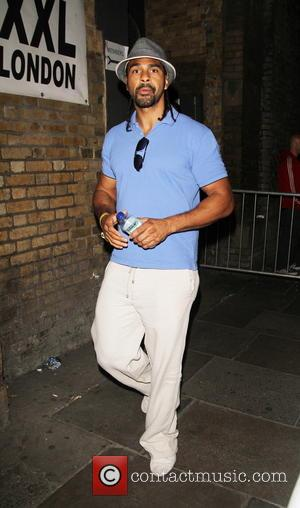 David Haye - Launch party of Dynamo: Magician Impossible series 3 held at 'Pulse' Blackfriars - Departures - London, United...