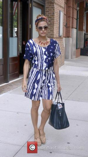 Eva Mendes - Eva Mendes seen leaving her hotel in Manhattan - New York City, NY, United States - Wednesday...