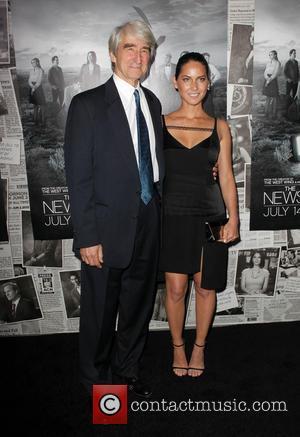 Sam Waterston and Olivia Munn