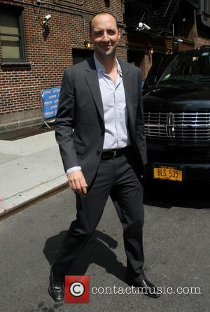 Tony Hale - Celebrities arrive outside the Ed Sullivan Theater for their taping on the Late Show with the David...