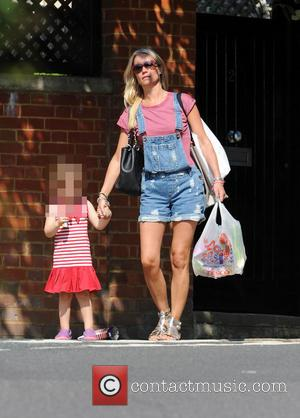 Denise Van Outen and Betsy - Denise Van Outen out with her daughter Betsy in Hampstead - London, United Kingdom...