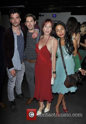 Andrew Lee Potts, Martin Delaney, Tanya Franks and Kathryn Drysdale - Infiniti Gate Experience - party held at the London...