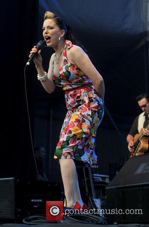 Imelda May - Imelda May performs live at Iveagh Gardens, with supporting act Mundy - Dublin, Ireland - Friday 12th...