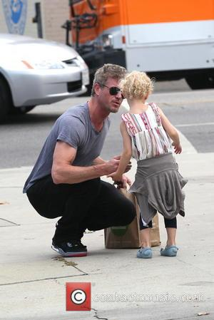 Eric Dane and Billie Dane - Eric Dane out with his daughter in West Hollywood - Los Angles, CA, United...