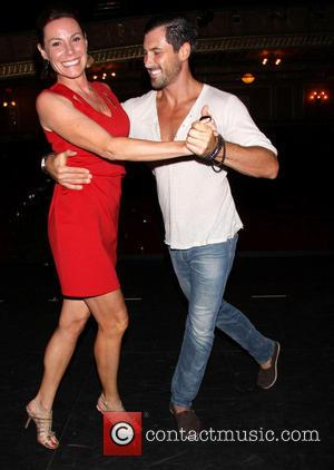 Countess LuAnn de Lesseps and Maksim Chmerkovskiy - Forever Tango at the Walter Kerr Theatre - Backstage - New York...