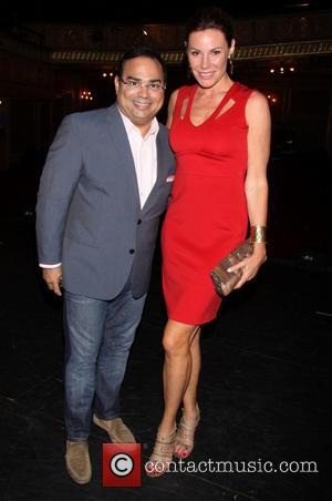 Gilberto Santa Rosa and Countess LuAnn de Lesseps - Forever Tango at the Walter Kerr Theatre - Backstage - New...