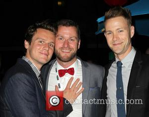 Jonathan Groff, Guido Gotz and Christopher Hanke - 2013 Outfest Opening Night Gala Of 'C.O.G.' - After Party - Los...