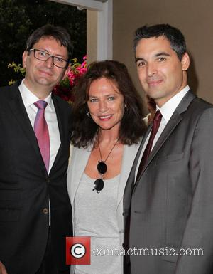 French Consul Mr. Axel Cruau, Jacqueline Bisset and Deputy Consul of Fabrice Maiolino