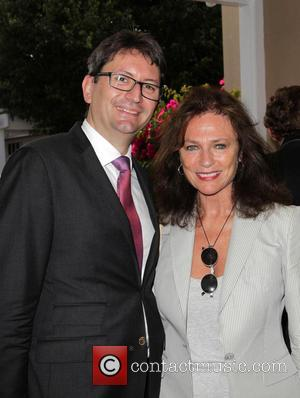 French Consul Mr. Axel Cruau and Jacqueline Bisset