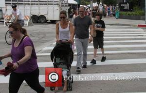 Jon Cryer - Jon Cryer and family at the Farmers Market - Studio City, CA, United States - Sunday 14th...