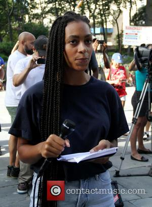 Solange Knowles - Singer songwriter and actress, Solange Knowles, held a rally for Trayvon Martin, against the Zimmerman verdict, at...