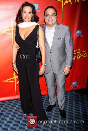 Alexandra Malagon and Gilberto Santa Rosa - The opening night after party for Forever Tango held at Planet Hollywood. -...