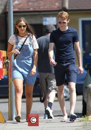 Jacqueline Jossa and Jamie Borthwick - Jacqueline Jossa and Jamie Borthwick take a walk through a sunny Borehamwood after taking...