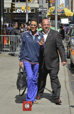 Robin Roberts - Celebrities are seen leaving  ABC Studios after 'Good Morning America' program - New York, NY, United...