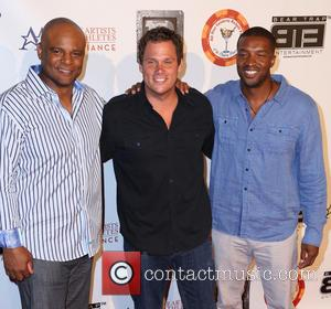 Warren Moon, Bob Guiney and Roger Cross - ESPY All-Star Celebrity Kickoff Party at the Playboy Mansion - Arrivals -...