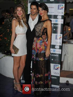 Camila Morrone, Eli Roth and Lucila Sola - Ischia Global Fest 2013 -  Day 3 - at Gala Dinner...
