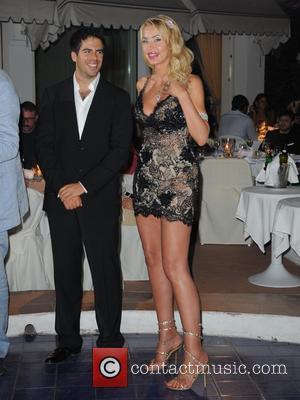 Eli Roth and Valeria Marini
