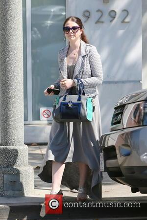 Michelle Trachtenberg - Michelle Trachtenberg is seen leaving an office building in Beverly Hills. - Los Angeles, CA, United States...