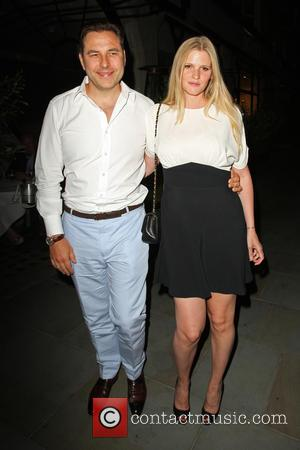 David Walliams , Lara Stone - Celebrities at Scott's restaurant in Mayfair - London, United Kingdom - Tuesday 16th July...
