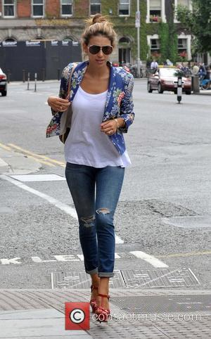 Georgia Salpa - Model Geogia Salpa seen arriving at the Shelbourne Hotel wearing a pair of 000 Christian Louboutin Yacht...