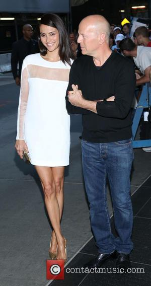 Emma Heming and Bruce Willis - New York premiere of 'RED 2' held at the Museum of Modern Art -...