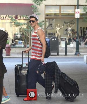 Carlos Pena and Jr. - Big Time Rush depart the Sofitel Hotel for their Summer Tour performance - Philadelphia, PA,...