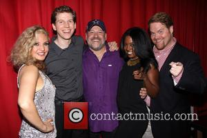 Orfeh, Stark Sands, Frank Wildhorn, Adrienne Warren and John Treacy Egan