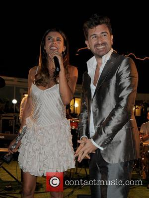Elisabetta Canalis and alessandro Siani - Ischia Global Fest 2013 at Gala Dinner at the Dolphin Hotel - Ischia Italy,...
