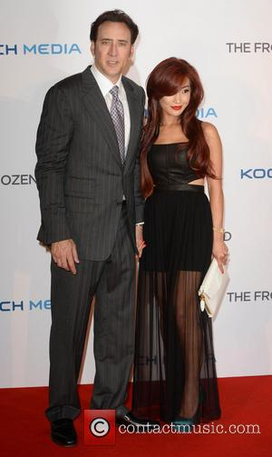 Nicholas Cage and Alice Lim - 'The Frozen Ground' U.K. Premiere held at the Vue West End - Arrivals -...