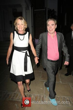 Andrew Lloyd Webber and Madeleine Loyd Webber - Celebrities leaving the ITV Summer Party held at a private house in...