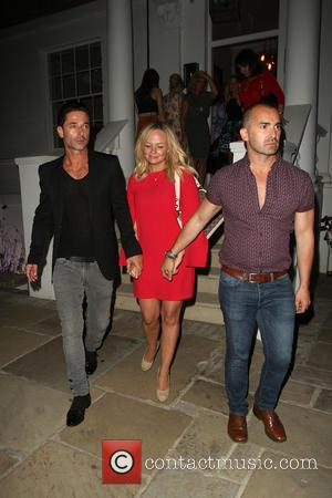 Emma Bunton, Louie Spence and Jake Canuso - Celebrities leaving the ITV Summer Party held at a private house in...