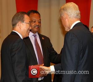 Ban Ki Moon, Jesse Jackson and Bill Clinton