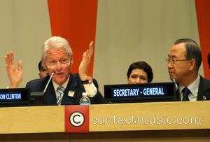 Bill Clinton and Ban Ki Moon